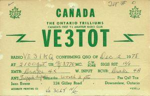VE3TOT QSL card