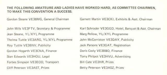 1977 ARRL Convention committee