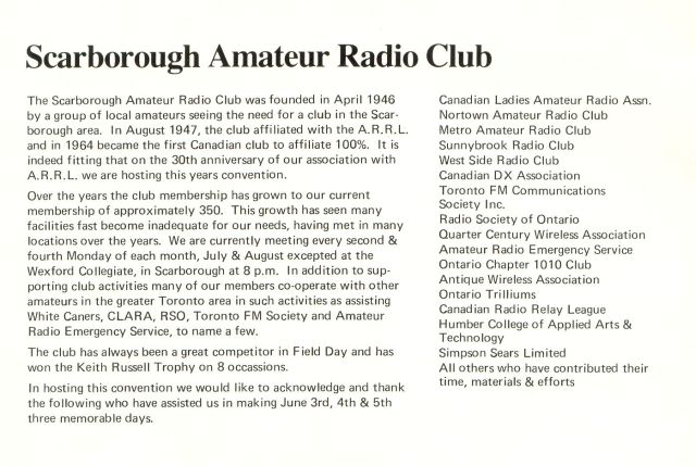 1977 ARRL Convention clubs