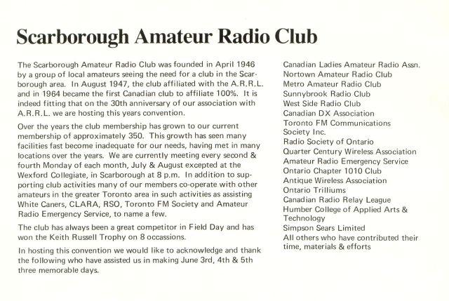 1977 ARRL Convention clubs