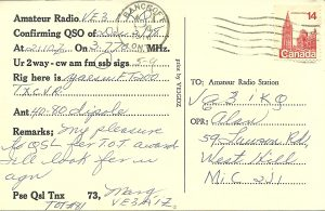 VE3AIZ QSL (back)