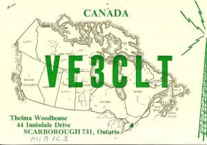 VE3CLT QSL front